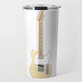White Electric Guitar Travel Mug