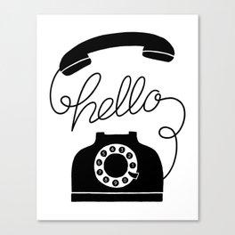 Hello Phone Canvas Print