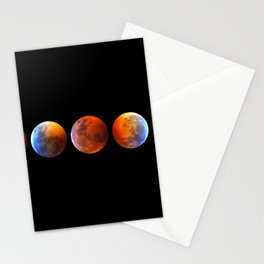 2019 Blood Wolf Moon Lunar Eclipse from Connecticut Stationery Cards