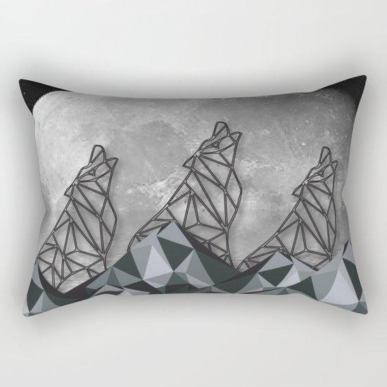 Wolf Moon Rectangular Pillow