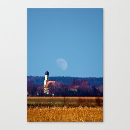 Concept landscape : View to a chapel Canvas Print