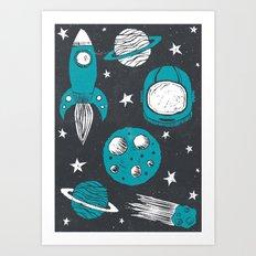 Space Age Art Print