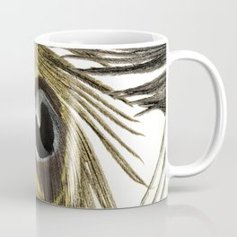 Gold and Silver Peacock Feathers Coffee Mug