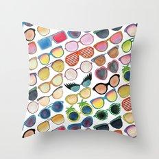 Sunglasses by Veronique de Jong Throw Pillow