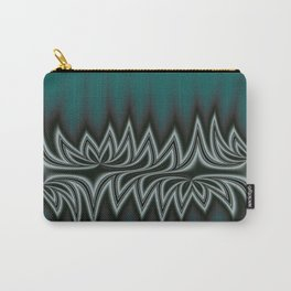 Fractal Tribal Art in Pacific Teal Carry-All Pouch