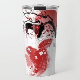 Red Geisha Travel Mug