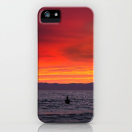 Surfers watching Sunset iPhone Case
