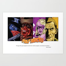 Pulp Heroes Tribute Art Print