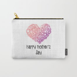 Happy Mothers Day Message Best Mom Grandma Gift Carry-All Pouch