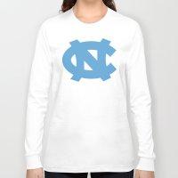 north carolina Long Sleeve T-shirts featuring NCAA - North Carolina Tarheels by Katieb1013