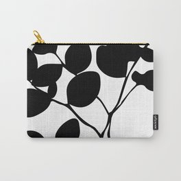black and white botanical Carry-All Pouch