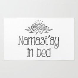 Namast'ay in bed Rug