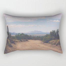 Down Desert Roads Rectangular Pillow