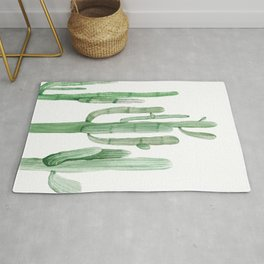 Three Amigos White + Green by Nature Magick Rug