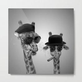 Giraffe gangsters Metal Print