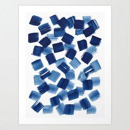 Indigo Brush Strokes | No.1 Art Print