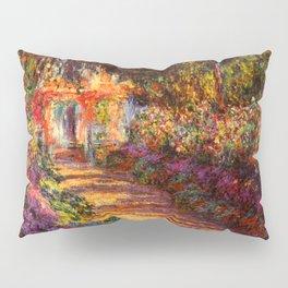 Garden Path at Giverny - Claude Monet 1902 Pillow Sham