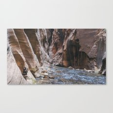 Cairn in the Zion Narrows Canvas Print
