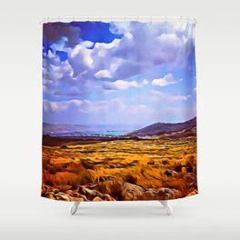 Dove of the Milk and Honey Shower Curtain