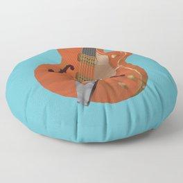 Gretsch Chet Atkins Guitar polygon art Floor Pillow