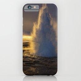 Geysir Sunset Iceland iPhone Case