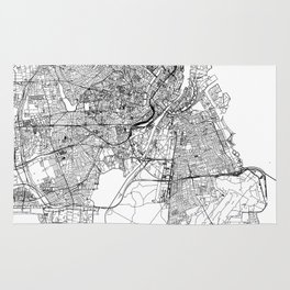 Copenhagen White Map Rug