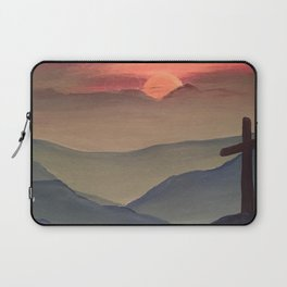 Sunset Cross Landscape Laptop Sleeve