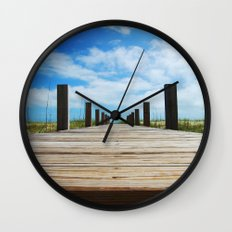 Baldhead island  Wall Clock