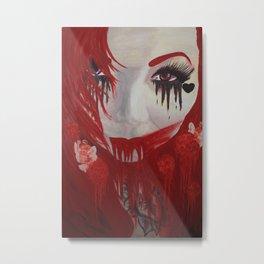 Bleeding Clown Metal Print