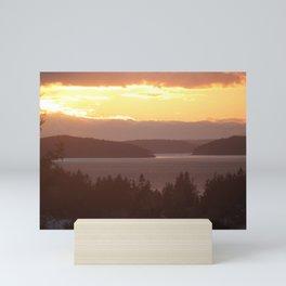 Golden Dusk Between the Islands Mini Art Print
