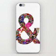 & ampersand print iPhone Skin