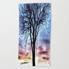The Lovely Tree Beach Towel