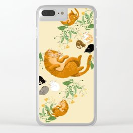 Sleeping cats family Clear iPhone Case