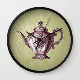 Vintage Victoria Teapot Wall Clock