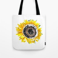 sunflower Tote Bags featuring Sunflower by Regan's World