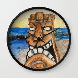 Sunset Tiki Wall Clock