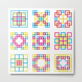 Square Tiles Metal Print