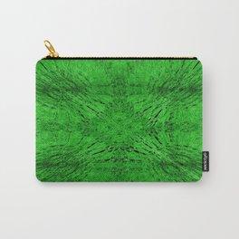 Grass Green Motion Mandala Carry-All Pouch