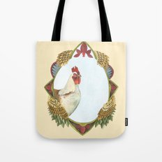 Quilted Forest // Charles the Chicken Tote Bag