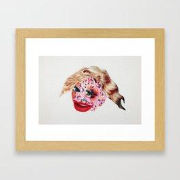 Sugar Lips Framed Art Print