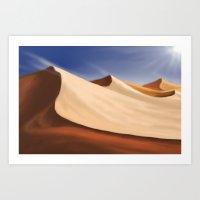 desert Art Prints featuring Desert by Turul