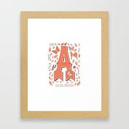 A is for Abuelita Framed Art Print