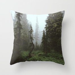 Rainier Forest Throw Pillow