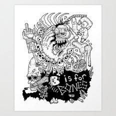 B is for Bones Art Print