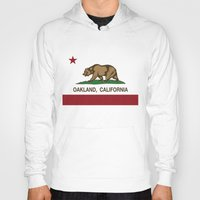 oakland Hoodies featuring Oakland California Republic Flag by NorCal