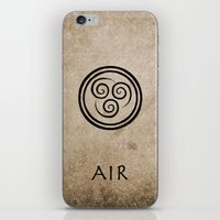 airbender iPhone & iPod Skins featuring Avatar Last Airbender - Air by bdubzgear