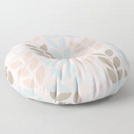 Scandinavian small leaves pattern design. Floor Pillow