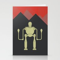iron giant Stationery Cards featuring The Iron Giant  by Stefanoreves