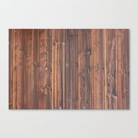 wooden Canvas Prints featuring wooden by Katharina Nachher