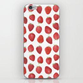 Strawberries watercolor iPhone Skin